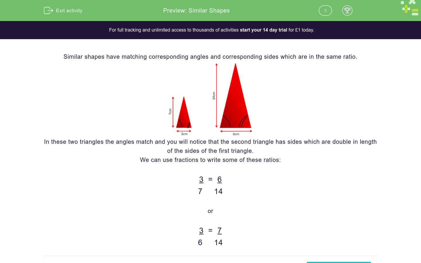 'Similar Shapes' worksheet
