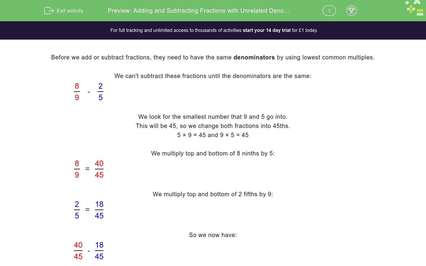adding and subtracting fractions with unrelated denominators  adding and subtracting fractions with unrelated denominators worksheet