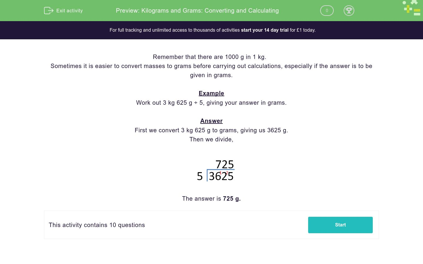 'Kilograms and Grams: Converting and Calculating' worksheet