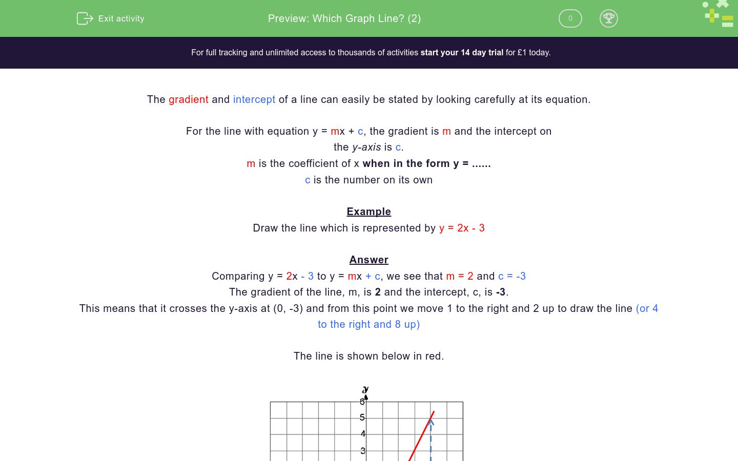 which graph line 2 worksheet edplace