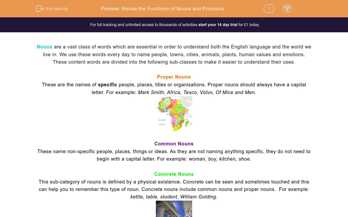Revise the Functions of Nouns and Pronouns Worksheet - EdPlace