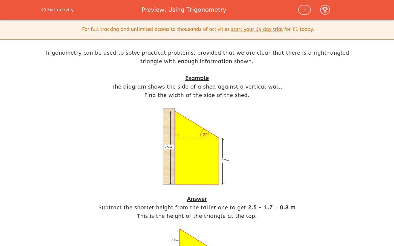 Using Trigonometry Worksheet Edplace