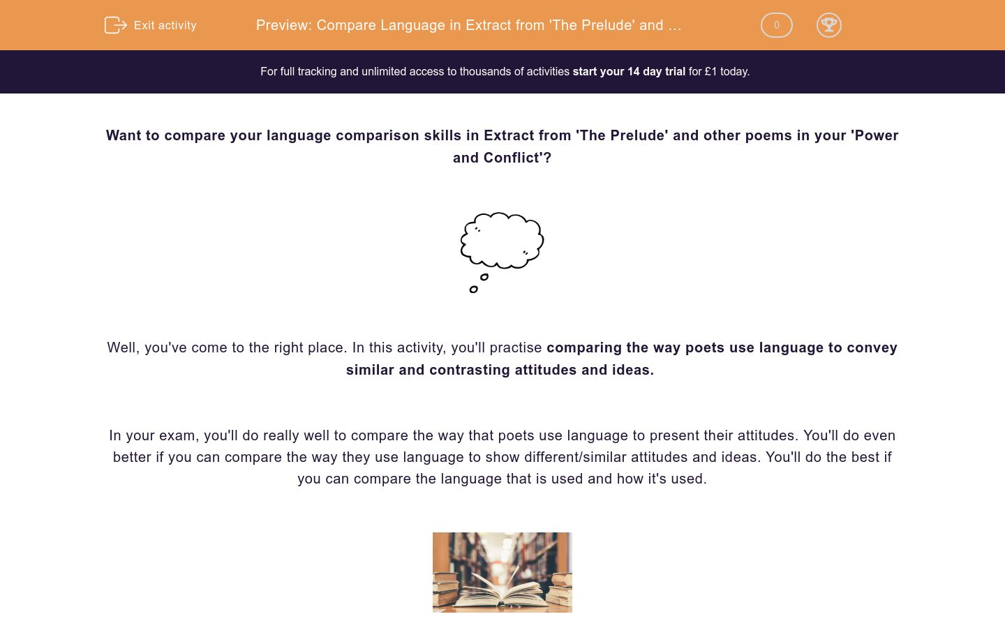 'Compare Language in Extract from 'The Prelude' and other Poems' worksheet