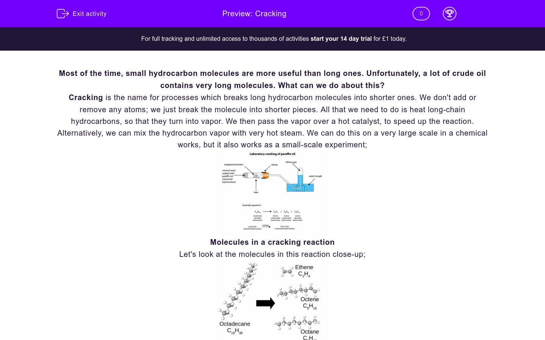 'Cracking' worksheet