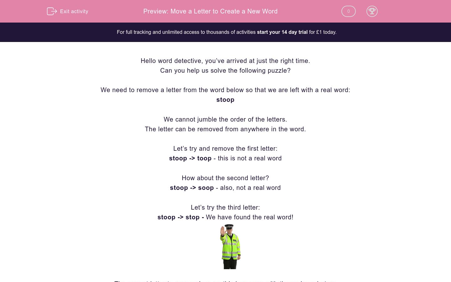'Input a Letter to Create a New Word' worksheet