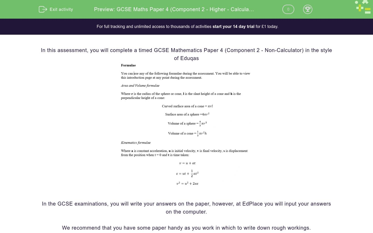 'GCSE Maths Paper 4 (Component 2 - Higher - Calculator) Practice Paper in the Style of Eduqas - Calculator' worksheet