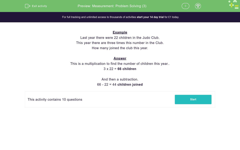 'Measurement: Problem Solving (3)' worksheet