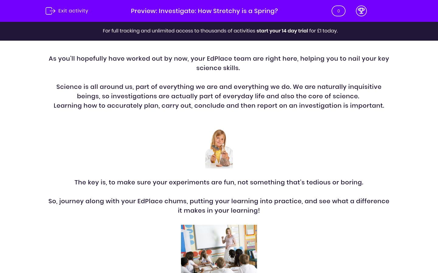 'Investigate: How Stretchy is a Spring?' worksheet