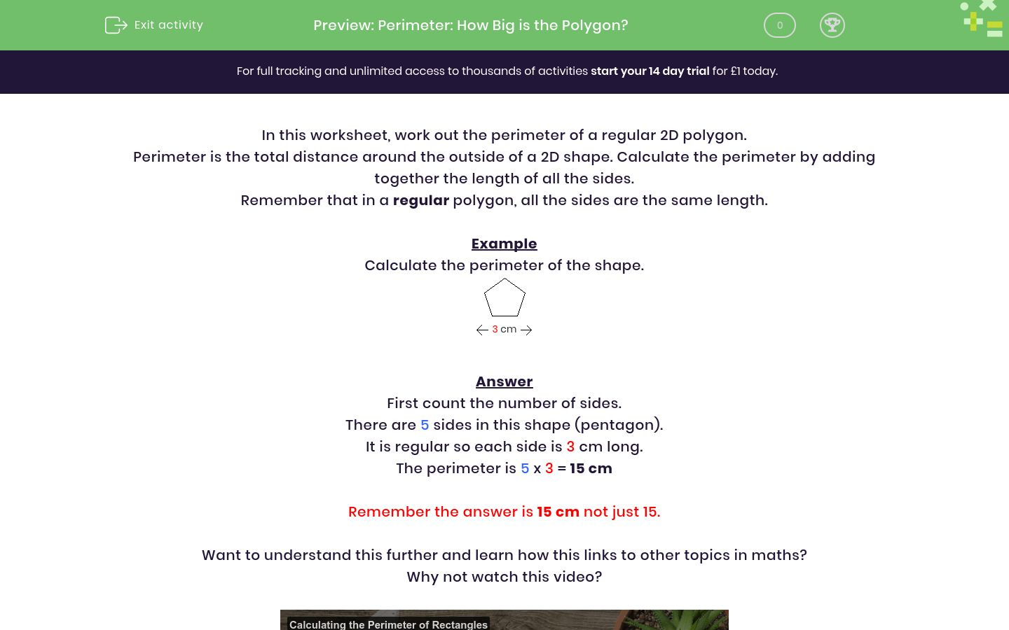 'Perimeter: How Big is the Polygon?' worksheet