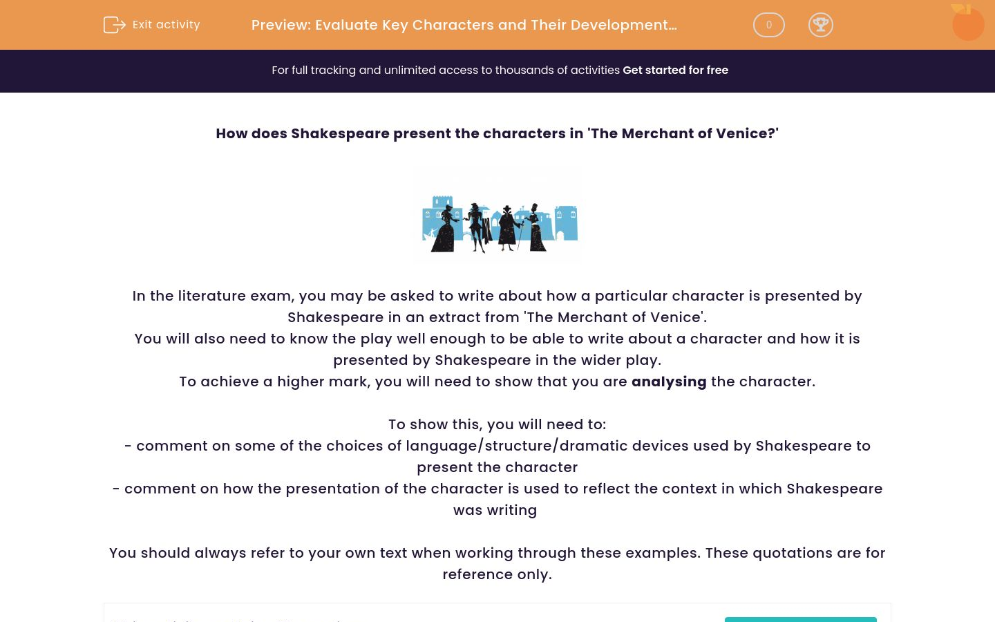 'Evaluate Key Characters and Their Development in 'The Merchant of Venice'' worksheet
