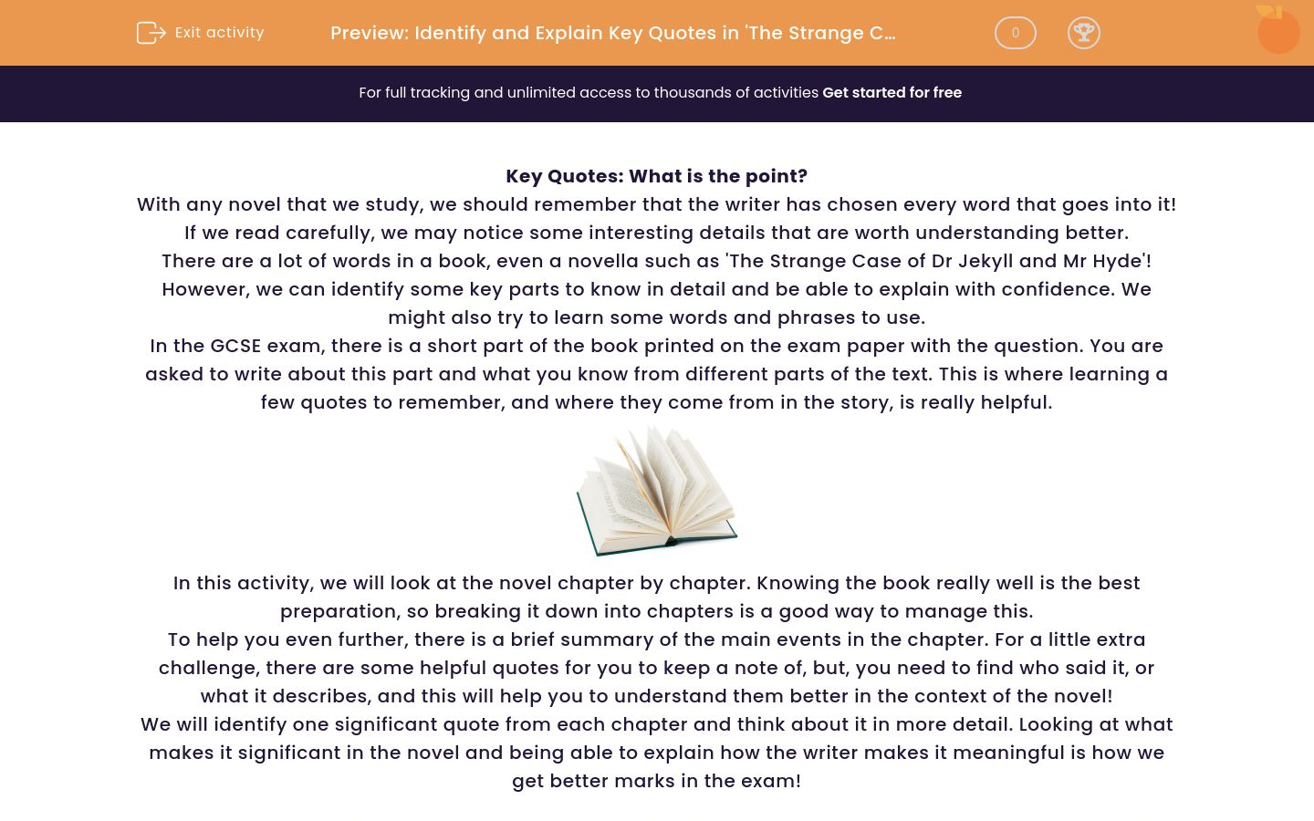 'Identify and Explain Key Quotations in 'The Strange Case of Dr Jekyll and Mr Hyde'' worksheet