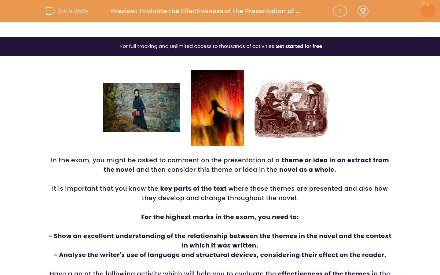 'Evaluate the Effectiveness of the Presentation of Themes in 'Jane Eyre'' worksheet