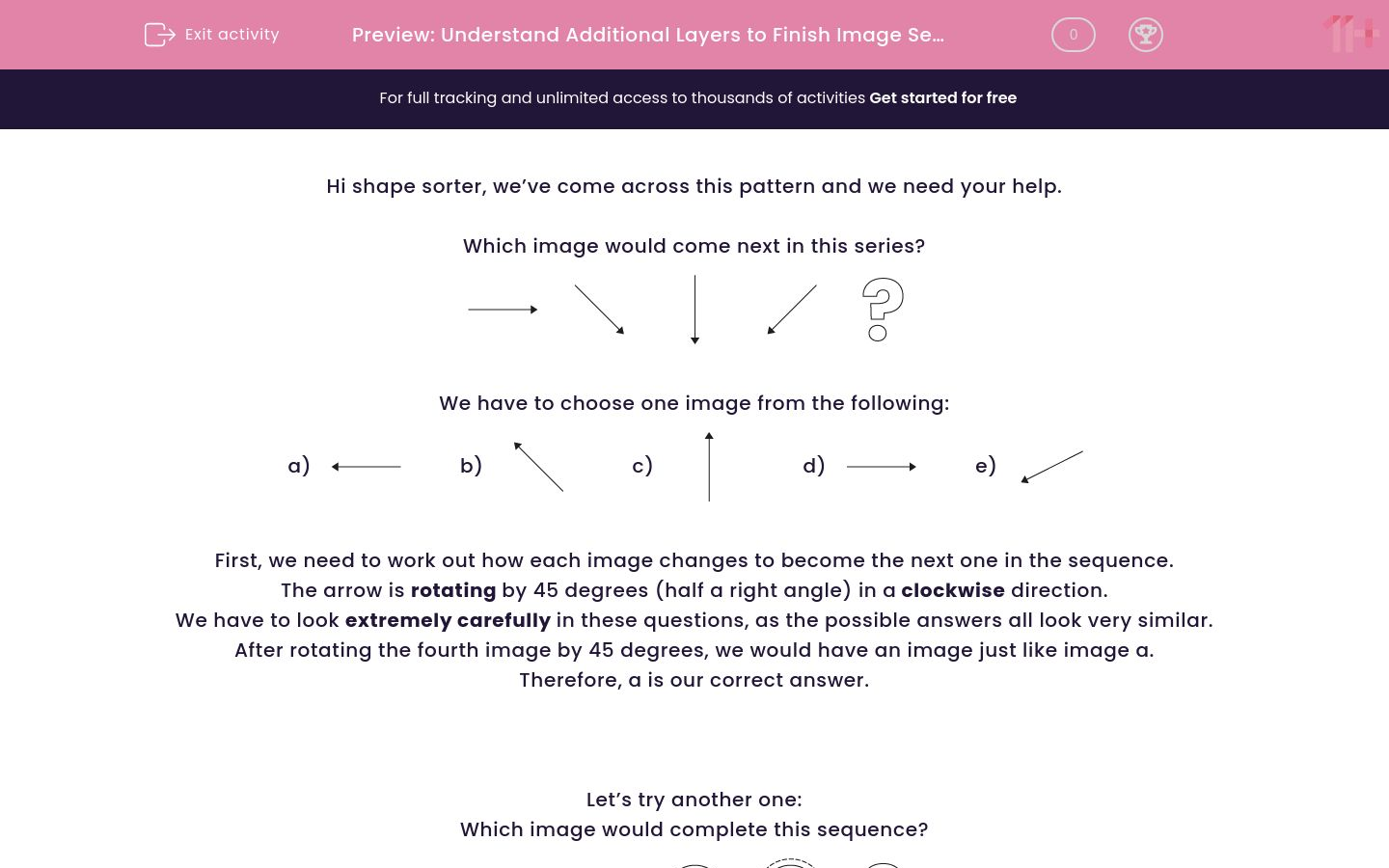 'Understand Additional Layers to Finish Image Sequence' worksheet