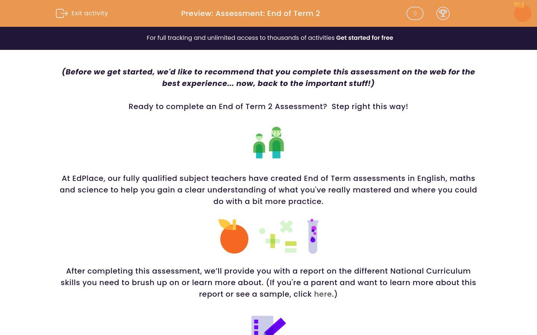 'Assessment: End of Term 2' worksheet