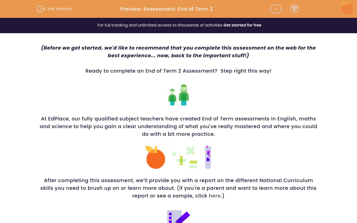 'Assessment: End of Term 2' worksheet