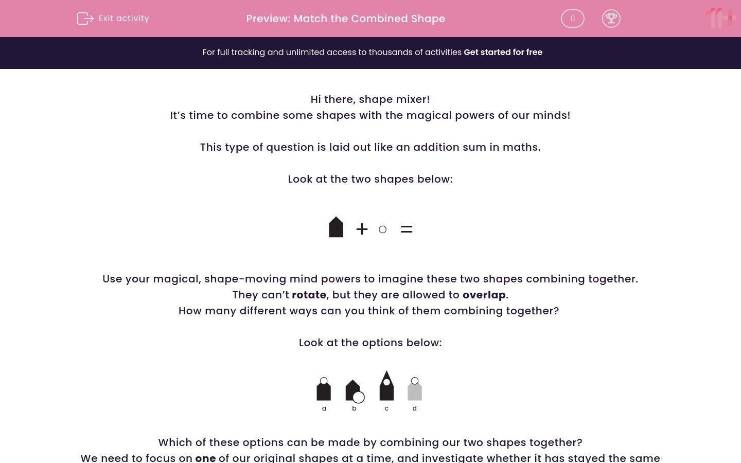 'Match the Combined Shape' worksheet