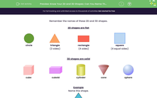 'Know Your 2D and 3D Shapes: Can You Name Them?' worksheet