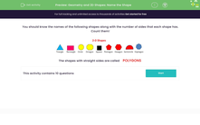 'Geometry and 2D Shapes: Name the Shape' worksheet
