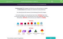 'Placing Shapes in Order (2)' worksheet