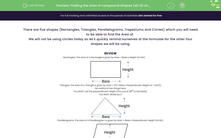 'Finding the Area of compound shapes (all 2D shapes)' worksheet