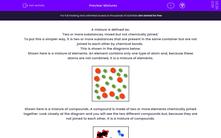 'Mixtures' worksheet