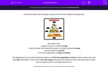 'Nutrition 1' worksheet
