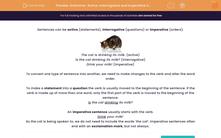 'Grammar: Active, Interrogative and Imperative Sentences 2' worksheet