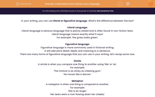 'Understand How Authors Use Language' worksheet