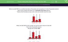 'Adding 1000: Adding to Numbers Less than 1000' worksheet