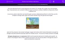 'How Fertilisers Help Plants' worksheet