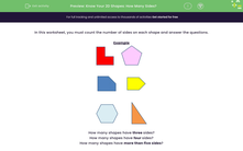 'Know Your 2D Shapes: How Many Sides?' worksheet
