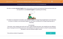 'Non-Standard English: How to Differentiate 3' worksheet