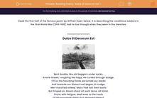 'Reading Poetry: 'Dulce Et Decorum Est' 1' worksheet