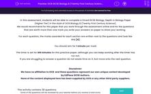 'OCR GCSE Biology B (Twenty First Century Science) Breadth in Biology Higher Tier Practice Paper' worksheet