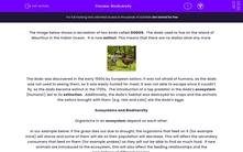 'Biodiversity' worksheet