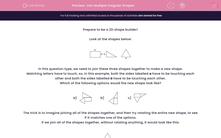 'Join Multiple Irregular Shapes' worksheet