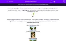 'Seed Dispersal' worksheet