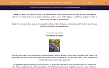 'Read and Understand: 'The Fox and the Goat'' worksheet
