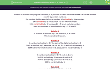 'Divisibility Rules: 2, 3, 5 and 10 (2)' worksheet