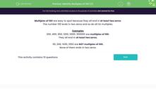 'Identify Multiples of 100 (3)' worksheet
