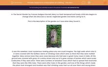 'Respond to a Description of a Setting - The Secret Garden' worksheet