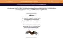 'Exploring Poetry 1: 'The Eagle'' worksheet