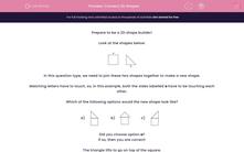'Connect 2D Shapes ' worksheet