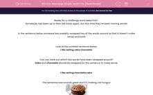 'Rearrange Simple Sentences (Three Words)' worksheet