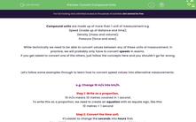 'Convert Compound Units' worksheet