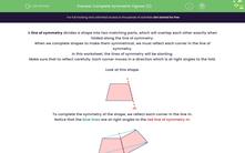 'Complete Symmetric Figures (2)' worksheet