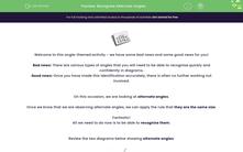 'Recognise Alternate Angles' worksheet