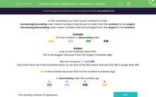 'Arrange 3-Digit Numbers: Ascending or Descending Order' worksheet
