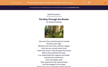 'Read Poetry to Analyse Meaning: 'The Way Through the Woods'' worksheet