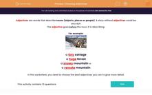 'Choosing Adjectives' worksheet